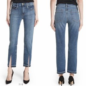 FRAME Denim Le Nouveau Straight Split Hem Jeans